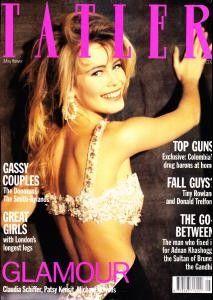 Fashion Magazine Cover, Magazine Covers, 90s Models, Fashion Models, Most Beautiful Models, Claudia Schiffer, Clothing Labels, Brigitte Bardot, Revlon