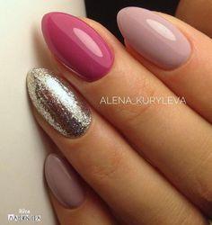 popular nail shapes For Women Matte Pink Nails, Black Acrylic Nails, Shellac Nails, Fancy Nails, Trendy Nails, Cute Nails, Hair And Nails, My Nails, Different Nail Shapes