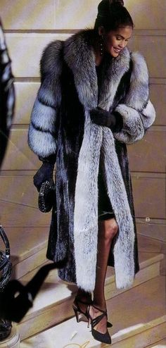 black mink & silver fox fur coat More Men's and Women's Fur Fashion Looks On @anandco #furfashion #furonline #fur Add, Pin, Share!