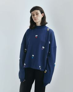 Lazy Oaf Pom Faces Sweatshirt