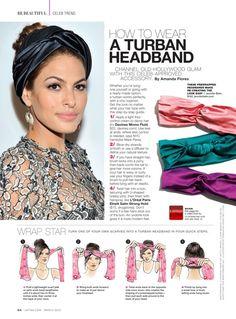 turban tutorial for Latina Magazine. Samantha Hahn