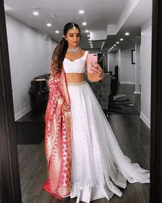 📸 Lehengas and chill 📸 Indian Bridal Outfits, Indian Designer Outfits, Indian Gowns Dresses, Pakistani Dresses, Pakistani Suits, Pakistani Bridal, Indian Attire, Indian Ethnic Wear, Indian Lehenga