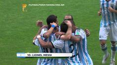 Gol de Messi. Nigeria 1 - Argentina 2. Mundial Brasil 2014. FPT