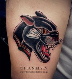 followthecolours   HB Nielsen tattoo panther ink