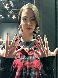 Artistic Colour Revolution used at the Christopher Raeburn AW16 Show #ArtisticNailDesign #ArtisticColourRevolution #Nails #Manicure #LondonFashionWeek #LouellaBelle