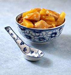 Poulet à l'ananas, la recette d'Ôdélices : retrouvez les ingrédients, la préparation, des recettes similaires et des photos qui donnent envie !