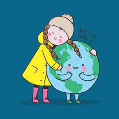 Motherhood Quotes Discover More Planet Less Plastic Sticker by jitterfly Earth Day Drawing, Earth Drawings, Art Environnemental, Earth Poster, Save Our Earth, Environmental Art, Art Plastique, Cute Illustration, Global Warming