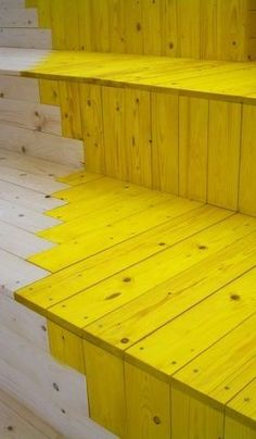 stairs. seating. color block. http://www.frameweb.com/news/things-that-go-without-saying-by-celine-condorelli-with-harry-thaler