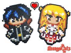Sword Art Online Kirito and Asuna by uenkii.deviantart.com on @DeviantArt