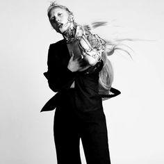Lady Gaga for L'uomo Vogue January 2012