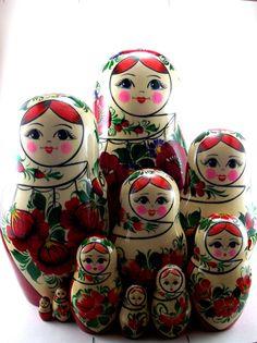 Russian nesting dolls Sudarushka new set 10 psc by VyatkaSouvenirs, $119.90