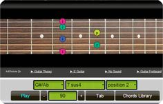 Online guitar chords generator