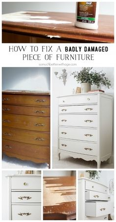 How to fix a badly damaged piece of furniture