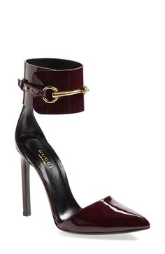 Gucci 'Ursula' Ankle Cuff Pointy Toe Pump