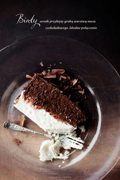 Chocolate mousse cheesecake with fudge Icing and chocolate shavings