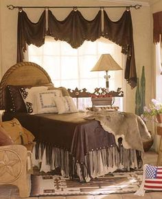 Love the fringe and the curtains!