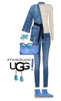 """Play With Prints In UGG: Contest Entry"" by simply-one ❤ liked on Polyvore featuring Current/Elliott, UGG Australia, Calvin Klein, Helmut Lang, Meira T, Ray-Ban and thisisugg"