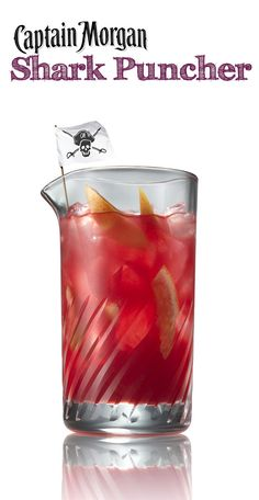 Shark Puncher cocktail - coconut rum, grapefruit juice, cranberry juice, and orange juice! So yummy!