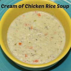 """Cream of Chicken Rice Soup Recipe; A great use of leftover chicken, full of vegetables and a """"secret"""" ingredient, this Cream of Chicken Soup recipe is rich, flavorful and immensely satisfying.  http://www.annsentitledlife.com/recipes/cream-of-chicken-rice-soup-recipe/"""