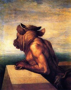 George Frederic Watts (1817 - 1904) - The Minotaur, 1877-86