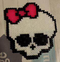 Monster High skull hama perler beads by Abi92