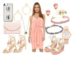 """""""Peach gal"""" by hillarymaguire ❤ liked on Polyvore featuring Misa, Gorjana, Shashi, Kate Spade, Noir Jewelry, Club Monaco, Marc Jacobs, fabulous, dresslily and fashionset"""
