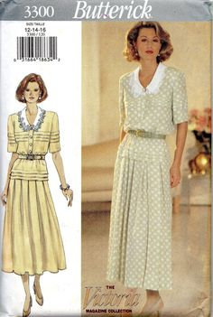 1990s Butterick 3300  Misses Graceful Dress Pattern with Tucked Bodice by mbchills  womens sewing pattern