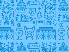 Yulefest Pattern by Elias Stein http://iconutopia.com/best-icons-of-the-week-week-13/