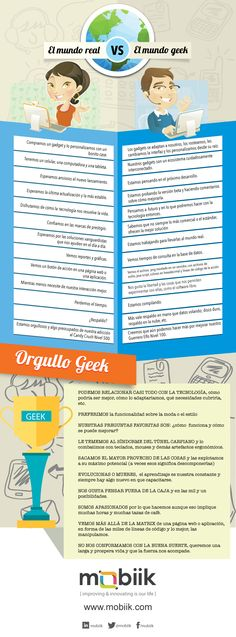 Mundo real vs Mundo Geek #infografia