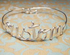 CUSTOM+Name+Bangle++Silver+Gold+or+Copper+by+wirewrap+on+Etsy,+$22.00
