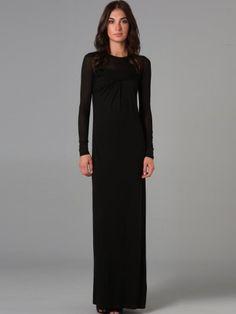 Black Sheath/Column Bateau Backless Long Sleeve Long/Floor Length Prom  Dresses PD2E72 | Prom Dresses | Pinterest | Columns, Prom And Black