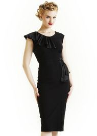 1930s Style Dresses, art deco, vintage inspired clothing by 20th Century Foxy  (classic black dress)