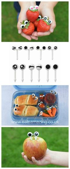 Googly Eye Food Picks from the Eats Amazing UK Bento Shop - Make Fun Food for Kids Lunch Boxes Bento Lunches Snacks and Party Food with these cute bento picks