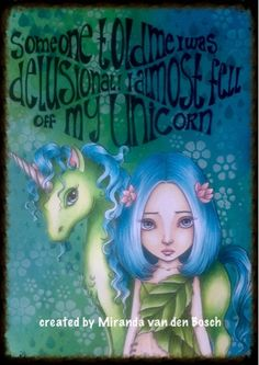 Copic Marker Europe: I almost fell off my unicorn... Shadows BV00, W 00,01,05 Unicorn body YG 0000,00,03,05,06,07,09,11,17 Unicorn hair BG 0000,02,05,07,09 FBG2 Skin girl E50,00,0000,08, R00,11, RV00,02,11 Hair girl BG 0000,02,05,07,09 FBG2 Leaves YG 0000,00,03,05,06,07,09,11,17 Flowers and ears unicorn R00,11