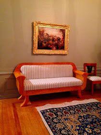 Architecture of Tiny Distinction: Biedermeier Furniture for the Georgian Parlour Sofa, Couch, Mini Chair, Parlour, Miniture Things, Dollhouse Furniture, Georgian, Building A House, Love Seat