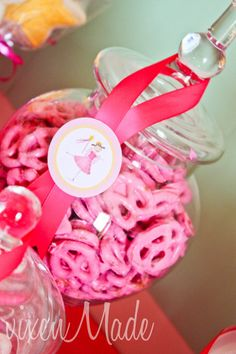 Pinkalicious food...just add food coloring to white chocolate!