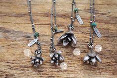 Handmade Sterling Silver Succulent Necklaces Ashley Weber Designs