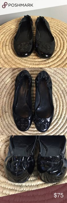 """Tory burch patent leather reva flats Tory burch reva flats 