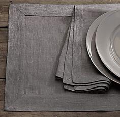 Belgian Metallic Table Linens | Restoration Hardware