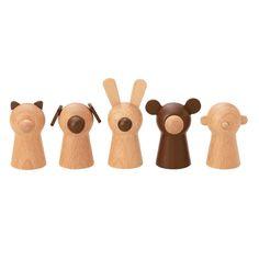 Wooden finger puppets - Muji