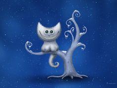 A Cheshire Kitten - Christmas by ~vladstudio on deviantART