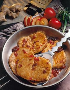 Ginger-Plum Pork Chops they look yummy