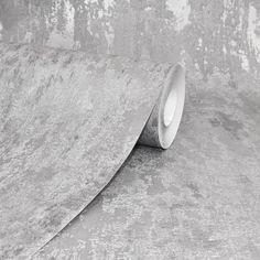 AS Creation Industrial Loft Wall Silver Wallpaper 326516 | Wallpaper