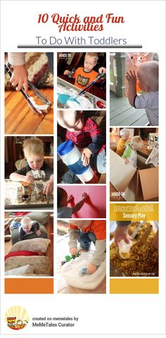 10 Quick and Fun Activities To Do With Toddlers - activities that take minutes to set up that keep active kids busy for a long time. {from Hands On As We Grow Blog} @Jamie Wise [hands on : as we grow] #kbnmeme