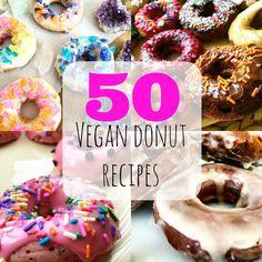 National Donut Day: 50 Vegan Donuts Round-Up Vegan Treats, Vegan Foods, Vegan Snacks, Vegan Dishes, Donuts, Vegan Doughnuts, Vegan Donut Recipe, Donut Recipes, Do It Yourself Food