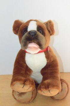 Build a Bear Boxer Bulldog Plush Dog BAB