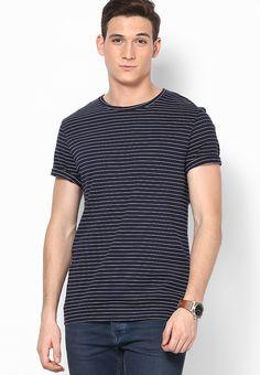 3138ae82e9d6 Buy Burton Navy Blue Round Neck T-Shirt Online - 4353935 - Jabong