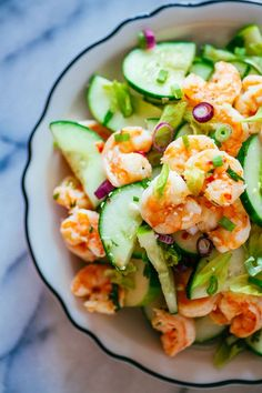 Shrimp & Cucumber Salad