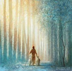 Beautiful Companion 아름다운 동행2015 oil on canvas 53×53 cm