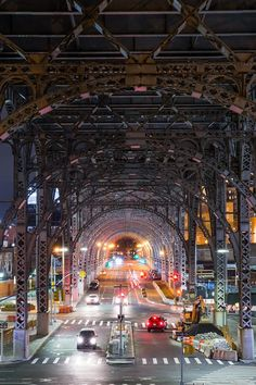 This is the Riverside Drive Viaduct in Harlem. Taken on a crisp fall evening, this is a classic viewpoint of New York that very often makes its way into movies. This is one image in a series I am creating that captures every aspect of New York City through various urban scenes and